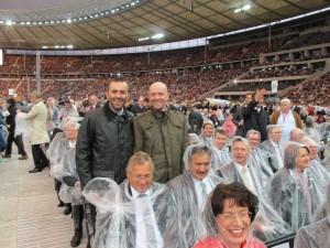 Beim Besuch der Messe im Berliner Olympiastadion anlässlich des Besuches von Papst Benedikt XVI in Deutschland.