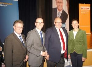 Peter Altmaier ist kurz vor der Bundestagswahl zu Besuch im Wahlkreis. Auf dem Bild ebenso Michael Reul und Katja Leikert