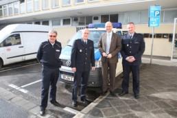 Peter Tauber bei der Bundespolizei in Hanau