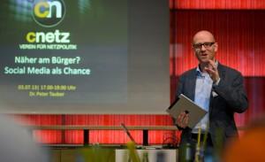 Über netzpolitische Themen informiert Peter Tauber auch regelmäßig bei Veranstaltungen im Wahlkreis. Foto: Tobias Koch