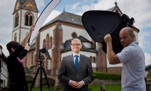 Vorbereitung auf die Bundestagswahl: Fototour durch den Wahlkreis mit einigen Helfern und verhältnismäßig wenig Ausrüstung. Foto: Tobias Koch
