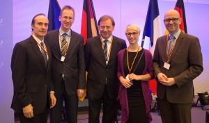 Gemeinsam mit Kollegen im Rahmen der Feierlichkeiten zum 50. Jahrestag der Unterzeichnung des Élysée-Vertrages.