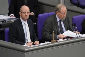 Als Schriftführer im Deutschen Bundestag. Foto: Tobias Koch