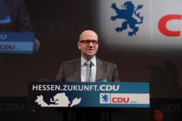 Peter Tauber während dem Parteitag. Bild: CDU MKK