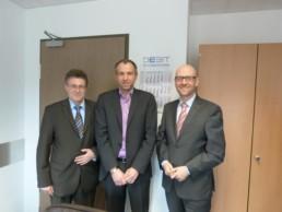 CDU-Landtagskandidat Michael Reul, Geschäftsführer Jörg Deusinger, Dr. Peter Tauber MdB