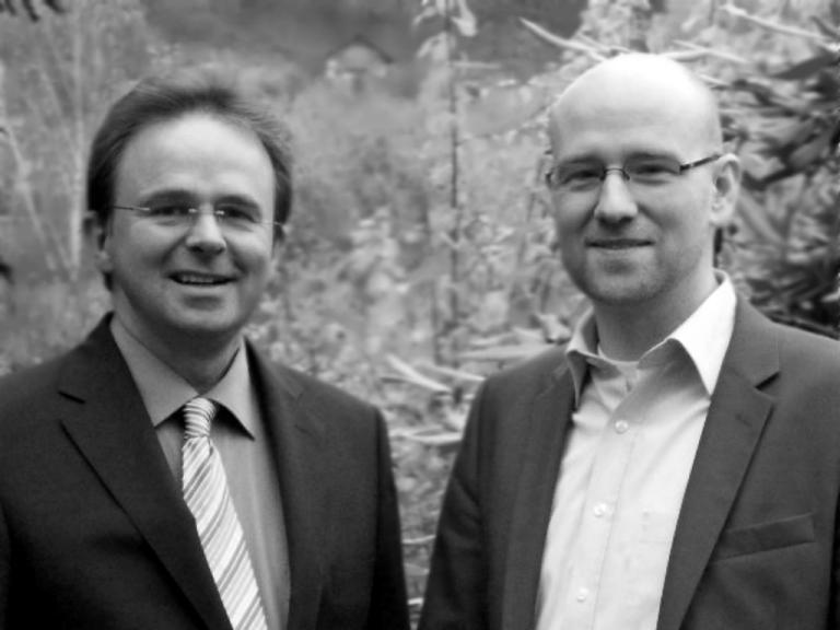 Trafen sich zum Erfahrungsaustausch: Peter Tauber und Jens Kreuter. Foto: Tobias Koch