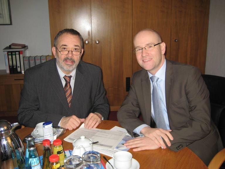 Trafen sich zum Gedankenaustausch: Peter Tauber mit Alexander Noblé. Foto: Wahlkreisbüro