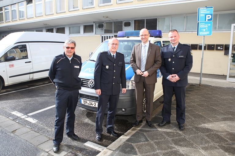 Peter Tauber bei der Bundespolizei in Hanau