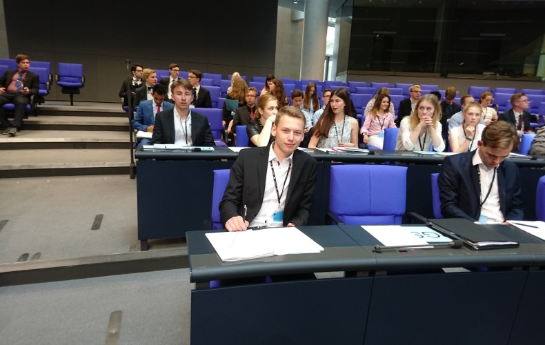 Vier Tage lang als Bundestagsabgeordneter im Einsatz