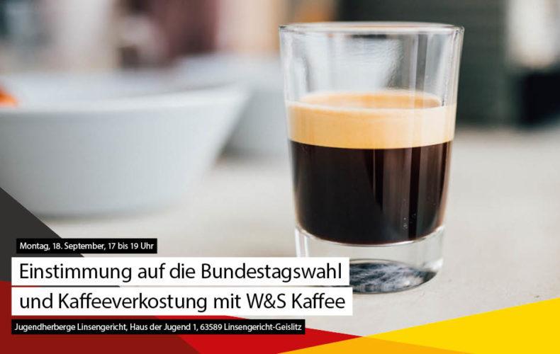 Peter Tauber stimmt mit Kaffeeverkostung auf den Endspurt ein